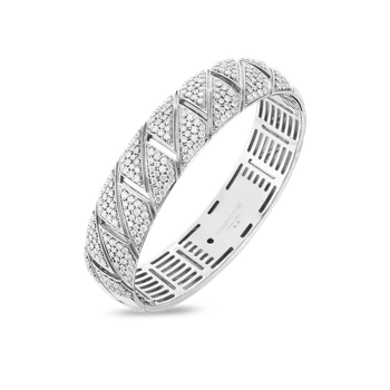 #27563 Of 18K All Diamond Gourmette Bangle