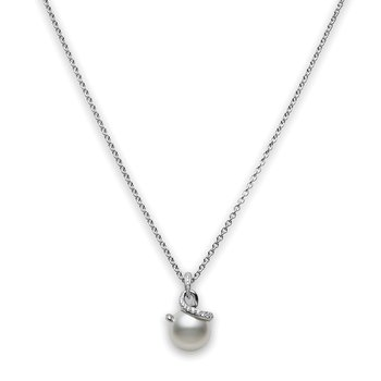 Twist White South Sea Cultured Pearl Pendant