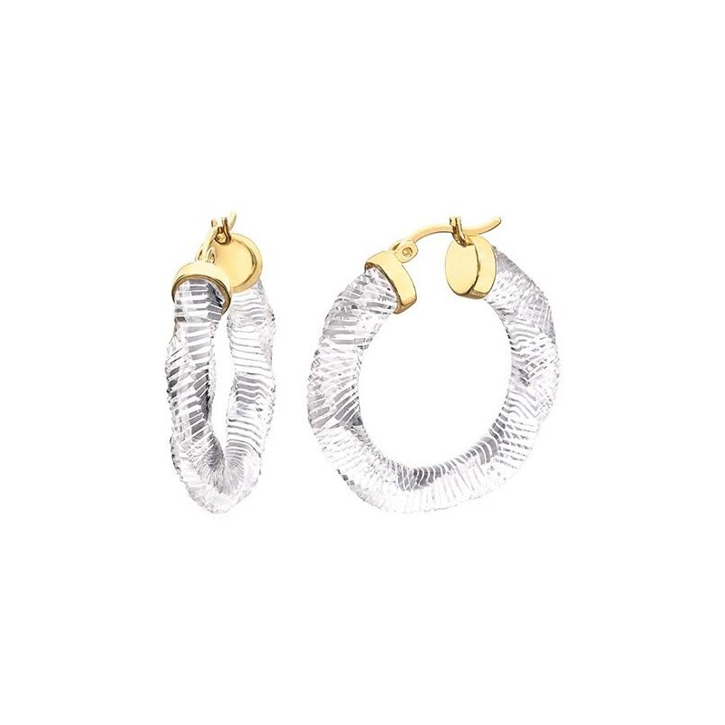 LARUS Jewelry Lucite Hoops 30mm