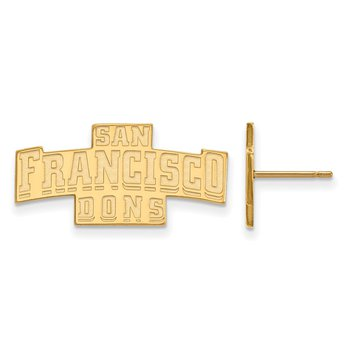 Gold-Plated Sterling Silver University of San Francisco NCAA Earrings