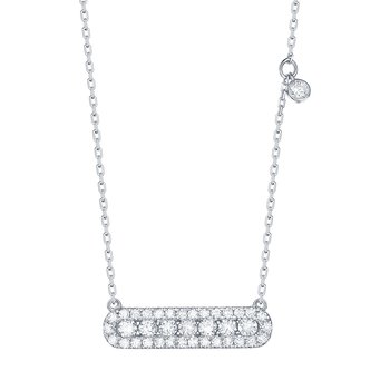 Smiling Rocks 0.58Ct G-H/VS1 Lab Grown Diamond Bar Necklace