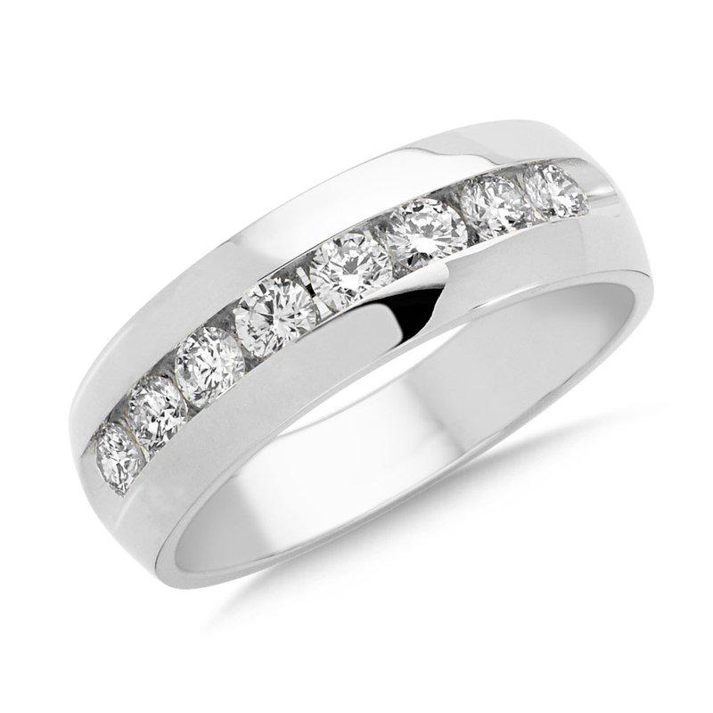 6b8ab3e7edffa Imperial Jewelers  SDC Creations Channel set Diamond Men s 14k White ...