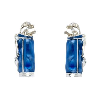 Sterling SilverBlue Golf Bag Cufflinks