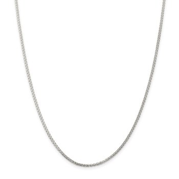 Sterling Silver 1.75mm Round Spiga Chain