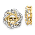 Quality Gold 14k White Gold Diamond Jacket Earrings