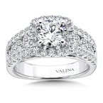 Valina Cushion Halo Engagement Ring in 14K White Gold (1.61 ct. tw.)