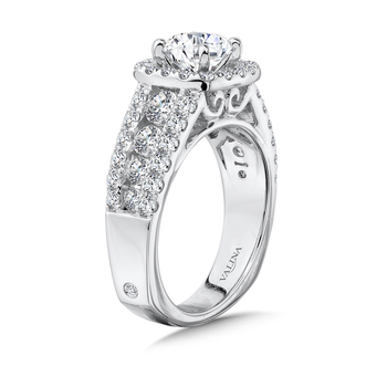 Cushion Halo Engagement Ring in 14K White Gold (1.61 ct. tw.)