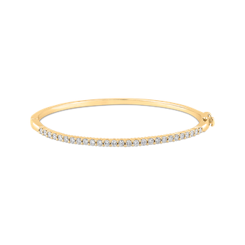 14K Yellow Gold 7/8 ct Diamond Bangle Bracelet