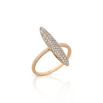 Pave Spike Ring 18KR