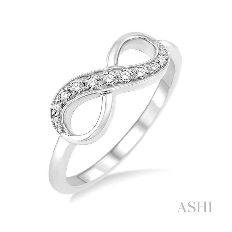ASHI infinity diamond ring