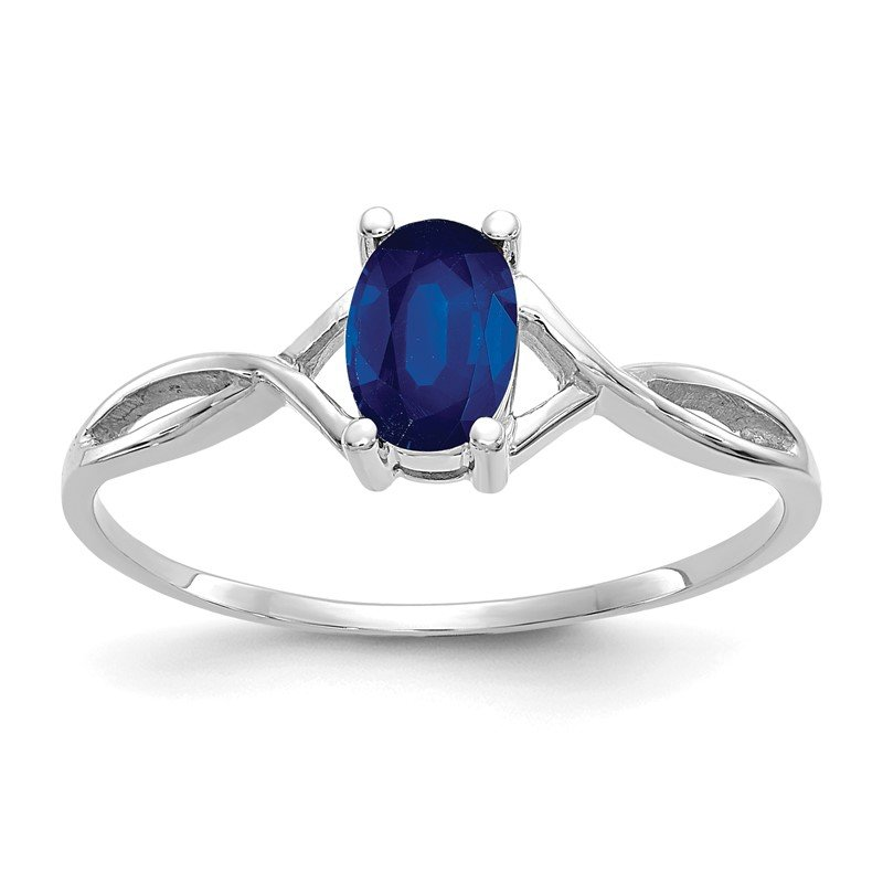 Quality Gold 14k White Gold Sapphire Birthstone Ring