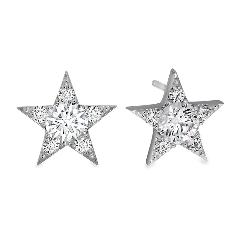 Hearts on Fire 1.3 ctw. Illa Cluster Stud Earrings