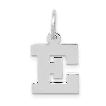 14KW Small Block Letter E Initial Charm