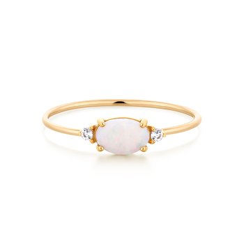 RHEA | Diamond and Opal Ring