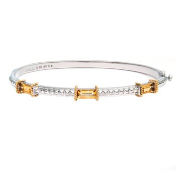 18kt and Sterling Silver Citrine Bangle