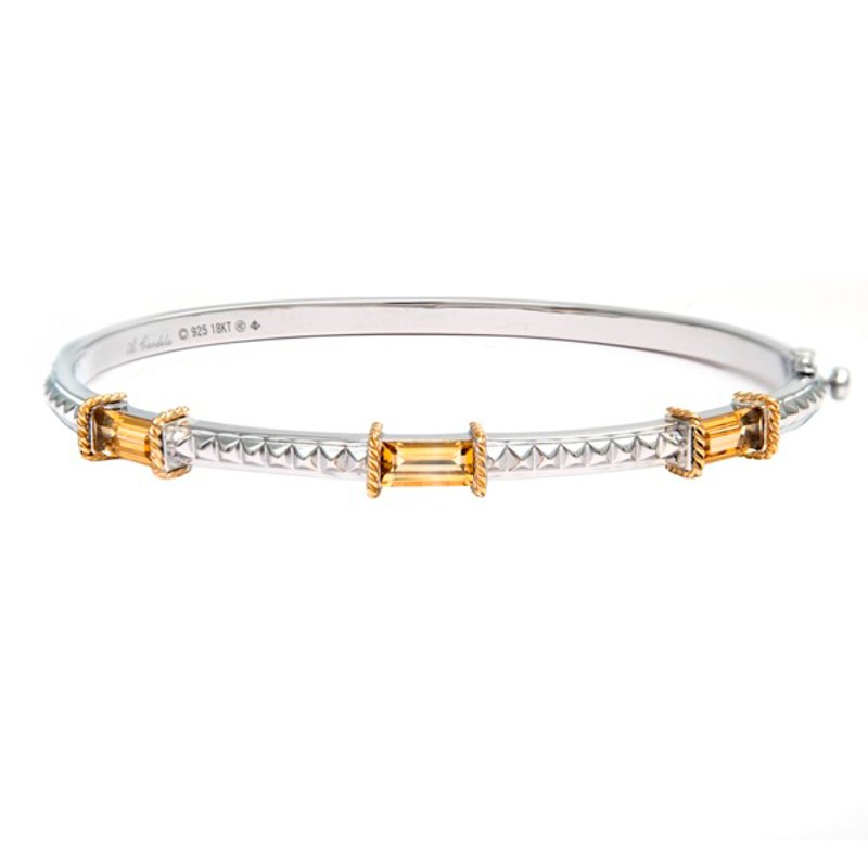 Andrea Candela 18kt and Sterling Silver Citrine Bangle