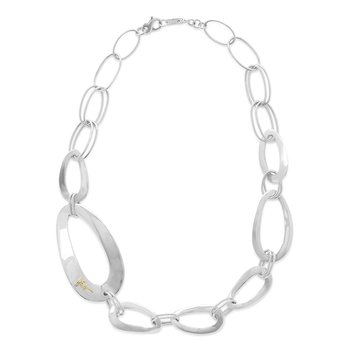 "Ipploita sterling Cherish large link collar 22"". Available at our Halifax store."