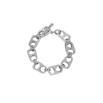 Two Layer Pop Top Bracelet With T-Bar