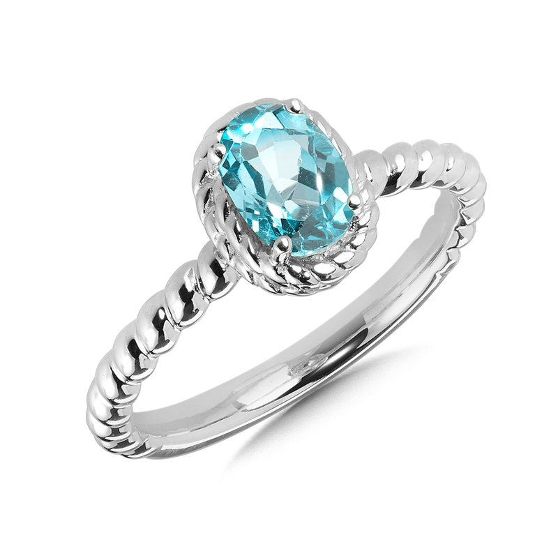 SDC Creations Aquamarine Ring in Sterling Silver