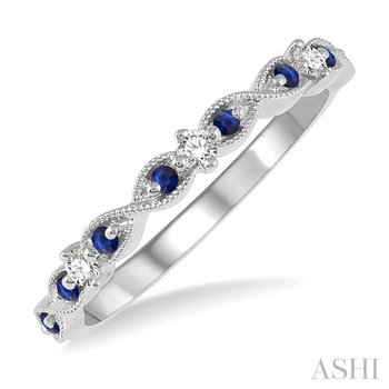 gemstone & diamond stackable band
