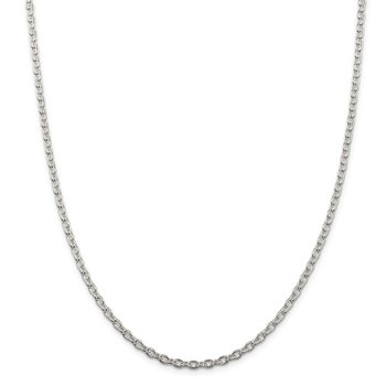 Sterling Silver 3.5mm Cable Chain