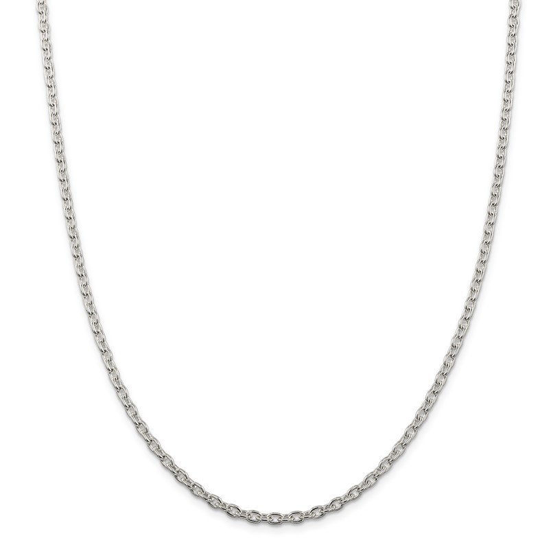 Quality Gold Sterling Silver 3.5mm Cable Chain