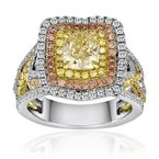 Roman & Jules Tri-Color Assher Diamond Ring