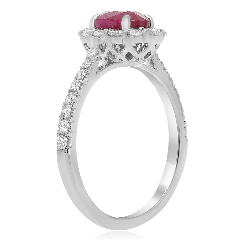 Roman & Jules White Gold Oval Cut Ruby Ring