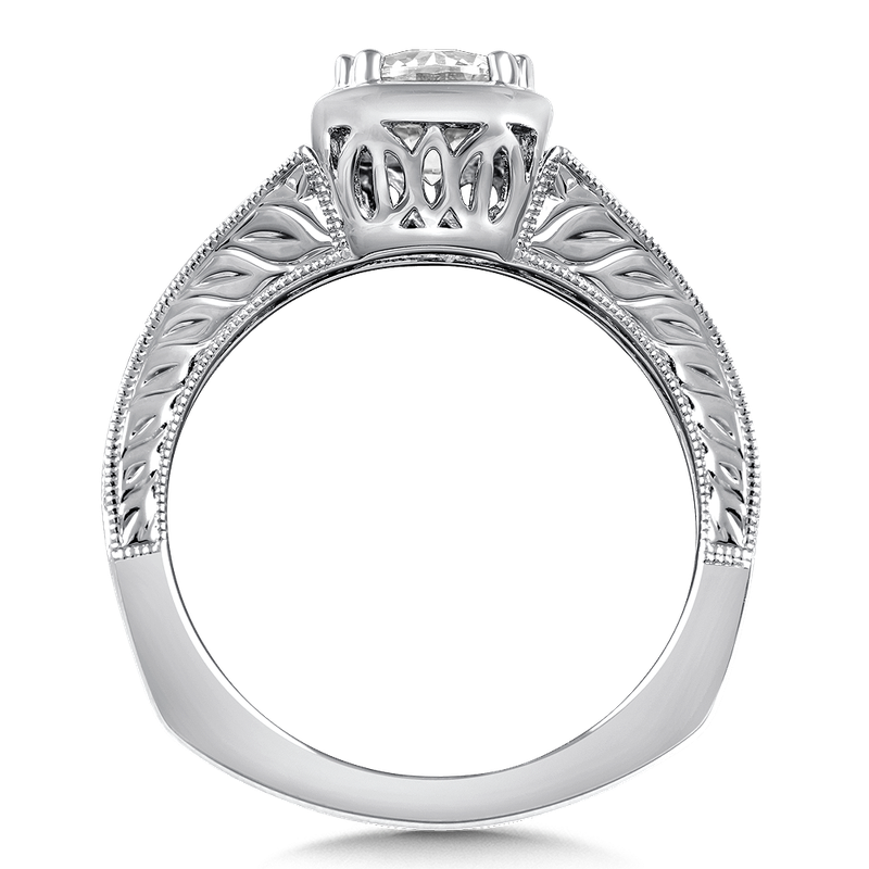 Valina Diamond Engagement Ring Mounting in 14K White Gold (.08 ct. tw.)