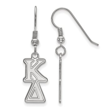 Sterling Silver Kappa Delta Greek Life Earrings