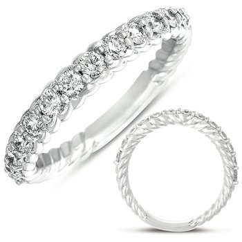 White Gold Diamond Rope Band