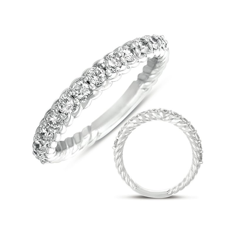 S. Kashi & Sons Bridal White Gold Diamond Rope Band