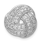 Quality Gold 14k White Gold 1/4ct. Diamond Love Knot Chain Slide