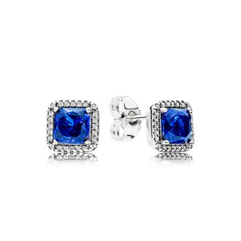 Timeless Elegance, True Blue Crystals Clear Cz
