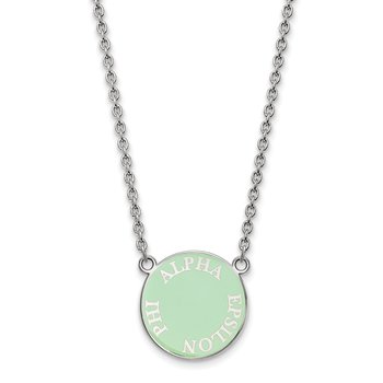 Sterling Silver Alpha Epsilon Phi Greek Life Necklace