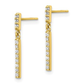 10K CZ Dangle Earrings