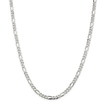 Sterling Silver 4.5mm Figaro Chain