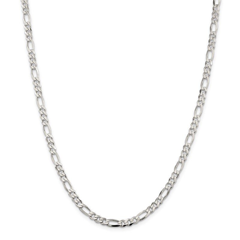 J.F. Kruse Signature Collection Sterling Silver 4.5mm Figaro Chain