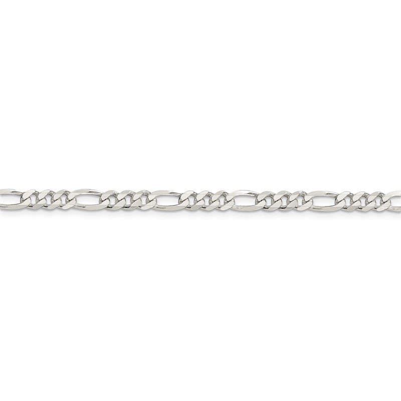 Quality Gold Sterling Silver 4.5mm Figaro Chain