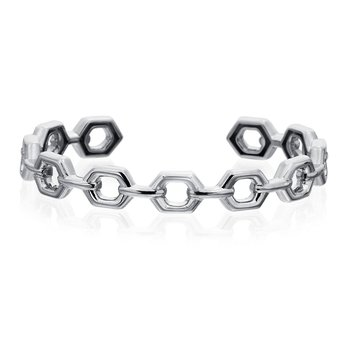"Honeybee ""B"" Linking Honeycomb Bangle B318G"