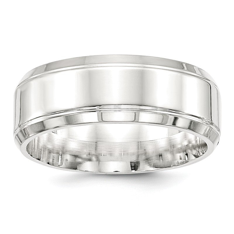 Lester Martin Online Collection SS 8mm Polished Fancy Band Size 10