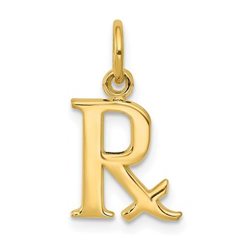 14k Prescription Symbol RX Charm
