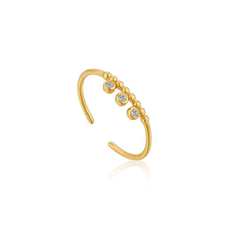Ania Haie Shimmer Triple Stud Adjustable Ring