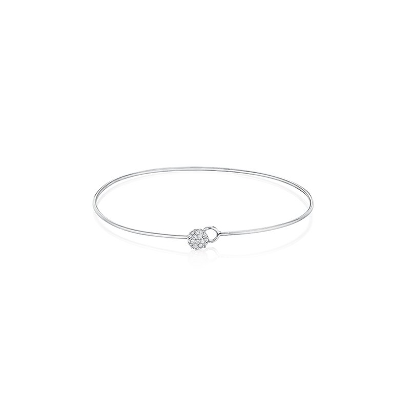 Phillips House White gold diamond wire Infinity Love Always bracelet