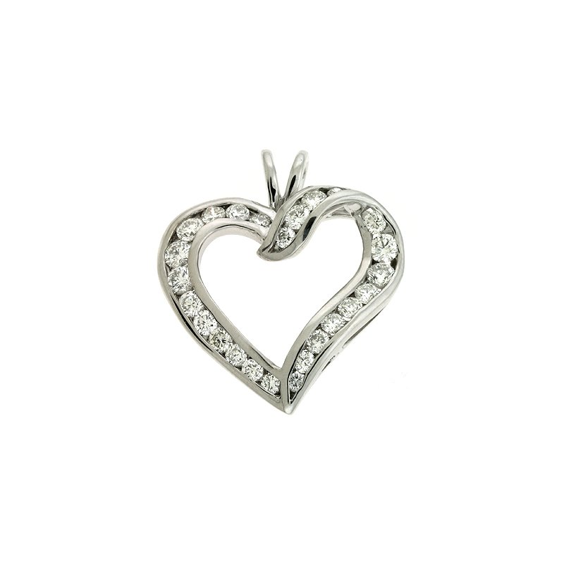 S. Kashi  & Sons Channel Set Heart Pendant