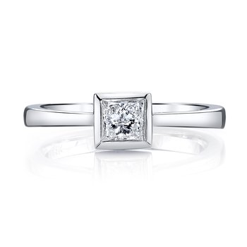MARS 26466 Solitaire Engagement Ring 0.31 Ctw.