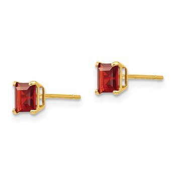 14k Madi K Garnet 4mm Square Post Earrings