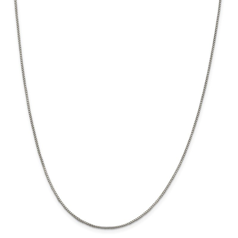 Sterling Silver 1.25mm Round Box Chain