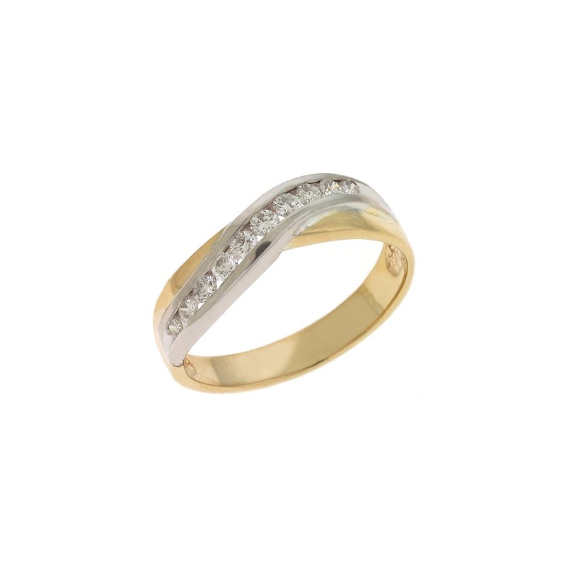 S. Kashi & Sons Bridal Yellow & White Gold Diamond Band