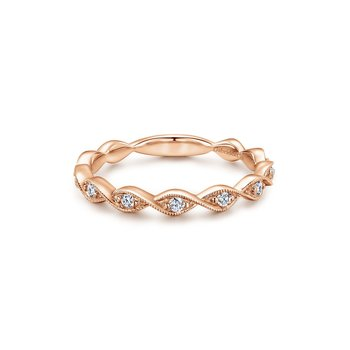 14K Rose Gold Fashion Ladies Ring